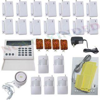 Wireless Home Security System Burglar Alarm Auto dialer + 5 Motion