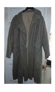 VINTAGE MILITARY TRENCH COAT 1941 92U CROWN WOOL WWII Excellent