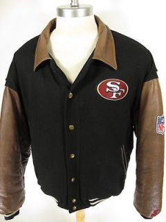 STARTER NFL football San Francisco 49ERS Leather & Wool Varsity Jacket