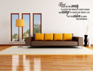 SERENITY PRAYER Home Bedroom Wall Art Decal Words36 gift Art Quotes