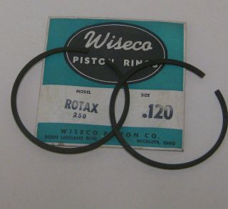 SKI DOO ROTAX 250 SINGLE CYLINDER WISECO PISTON RINGS .120 OVERSIZED