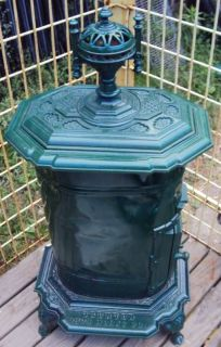 ANTIQUE WOOD PARLOR STOVE TAUNTON IRON WORKS