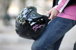 Harley Davidson Womens Pink Label 3/4 Open Face Helmet 98050 11e