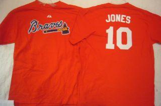 BOYS Youth Licensed Apparel Braves CHIPPER JONES Baseball Jersey Shirt