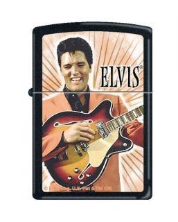 Zippo Elvis Presley Playing Guitar Black Matte Lighter, Low Ship