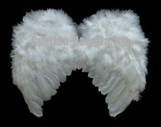 Small Snow White Feather Angel fashion wings costume for 2 8 yrs boy