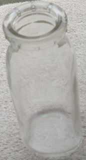 Vintage Half Pint Milk Bottle   DURAGLAS Logo on Bottom