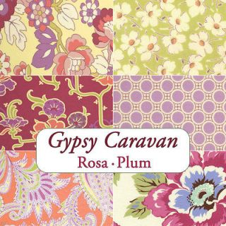 Amy Butler Gypsy Caravan Rosa 6 Fat Quarters Plum Orange Westminster
