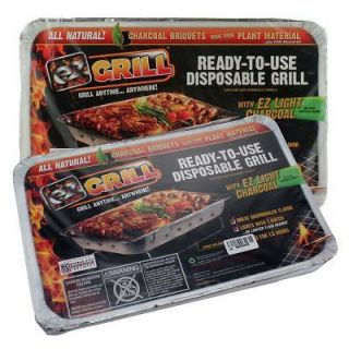 EZ Grill Ready to Use Disposable Charcoal Grills Tailgating Camping