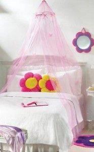 Pink PRINCESS Girls BUTTERFLY BED CANOPY Net Netting