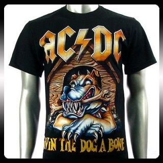 AC/DC Angus Young Heavy Metal Rock Music T shirt Sz M Men A19
