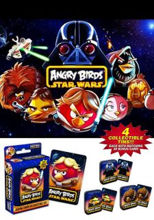 ANGRY BIRDS STAR WARS Playing cards COLLECTIBLE TIN *CHOOSE YOUR OWN*
