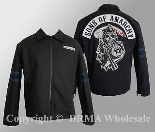 Authentic SONS OF ANARCHY Logo Patch Traveler Quilt Lined Jacket M L