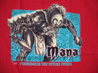 Hawaiian Strength Mens Red Mana Hawaiian Warrior T Shirt Sz XL   NWOT