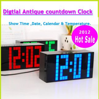 LED light color Christmas gift alarm multifunction count down clock