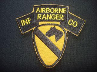 AIRBORNE RANGER INF CO.   1st Cavalry Division   Vietnam War Patch