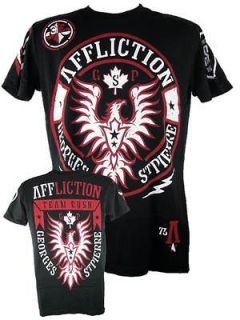 Affliction Georges St Pierre GSP UFC 154 Rush Walkout Black T shirt