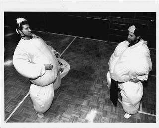 1993 Brian Chait Mike Barrasso Sumo Wrestling Suits Warrenton Press