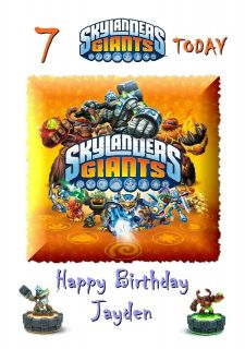 GIANTS   Personalised Birthday Card LARGE A5 any name / age son etc