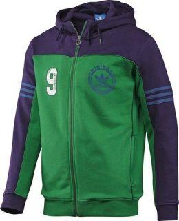 Adidas Originals Mens Full Zip SPO Fleece Hoody Hooded Jumper Sweater