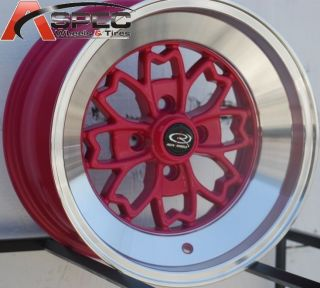 ROTA ALEICA 4X100 +10 ROYAL PINK WHEEL FITS ACURA INTEGRA SCION XB MR2