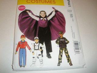 McCalls 6417/ 441 Kids VAMPIRE ASTRONAUT NASCAR DRIVER Costume