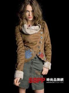 2012 Desigual Women Short paragraph embroidery patc Jacket /Coats