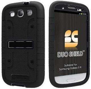 Newly listed BLACK DUO SHIELD RUBBER SKIN CASE SCREEN SAVER STAND FOR