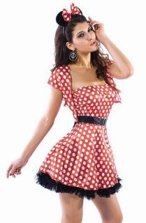 SHRUG Mickey Minnie Mouse DRESS Costume Womens Halloween Adult L USA