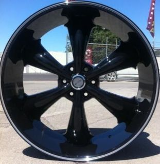 24 INCH WHEELS RIMS BLACK DW19 6X139.7 TAHOE 2007 2008 2009 2010 2011
