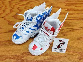NEW ADIDAS JEREMY SCOTT WINGS 2.0 KIDS SNEAKERS FLAG USA ORIGINAL