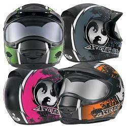 ARCTIC CAT SNOWMOBILE HELMET FULL FACE TXI AC BLACK/GREEN/PINK