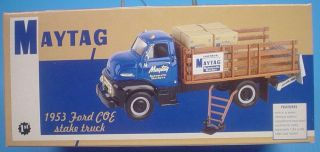Gear Diecast 1953 Ford COE Stake Truck #6 Maytag Truck Bank MIB Sealed