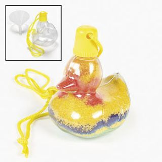 Duck Sand Art Bottle Necklaces 12 pcs (489163)