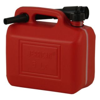 JERRY CAN, PLASTIC, DIESEL, PETROL, UN APPROVED, 5L