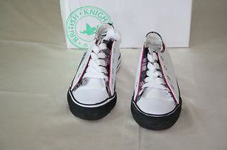 NIB British Knights DEMARCO Girl White and Pink with black squares U