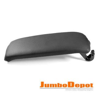 LEATHERETTE CENTER CONSOLE ARMREST COVER BLACK 01 02 03 (Fits: Audi