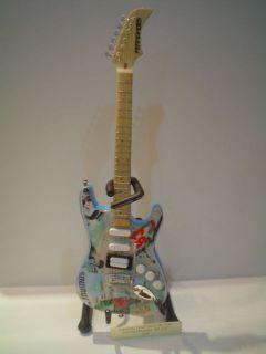 Miniature Guitar (24cm Tall)  GREEN DAY BILLIE JOE ARMSTRONG BLUE