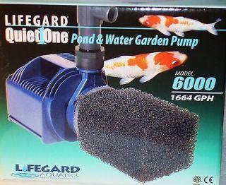 LIFEGARD AQUATICS QUIET ONE 6000 PRO SERIES Pond & Water Garden Pump