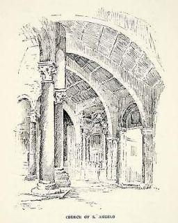Columns Perugia Church Sant Angelo San Michele Arcangelo Palaeo Art