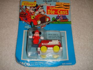 Vintage Arco Toys Disney Mickey Mouse & Fire Truck NEW