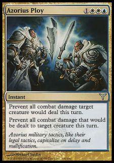 Azorius Ploy X4 EX/NM Dissension MTG Magic Cards Gold White Blue