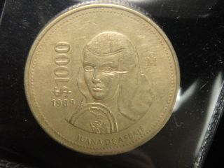 RARE1989 MEXICO 1000 PESOS COIN %%%%%X9