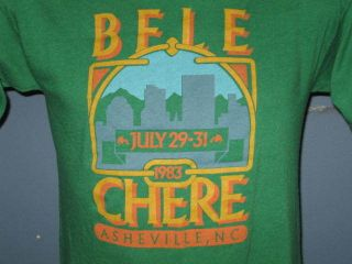 vintage 80s BELE CHERE FESTIVAL ASHEVILLE NORTH CAROLINA T Shirt SMALL