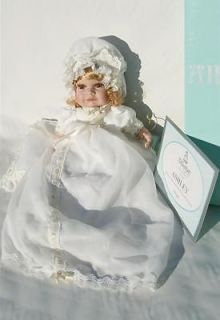 14 Alberon Porcelain Baby Doll Ashley with Christening Gown Bnew