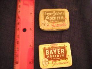 Genuine NY New York Bayer Aspirin Medicine tin lot of tins rare