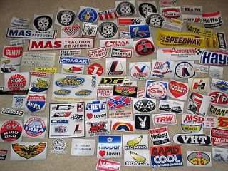 Lot of 100 Car Drag Racing Decals MSD, Autometer