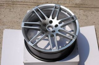 Hyper Silver RS4 Style Wheels Rims Audi & Volkswagen VW 5x112 ET 40