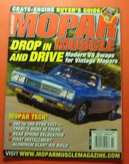 MOPAR MUSCLE MAGAZINE MARCH/2003..CRATE ENGINE BUYERS GUIDE..MOPAR