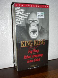 King Kong (VHS, ARCHIVAL VERSION,B&W,NE​W)